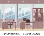 modern office interior. vector... | Shutterstock .eps vector #1034500201