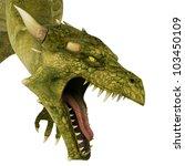 Green Dragon Portrait Side View