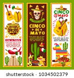 cinco de mayo banners for... | Shutterstock .eps vector #1034502379