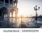famous san marco square at...   Shutterstock . vector #1034503294