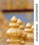 Small photo of The Gold Masthead of Pole on The Royal Crematorium : Bangkok : Thailand - December 11,2017