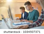 group of students in class...   Shutterstock . vector #1034507371