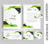 corporate identity design... | Shutterstock .eps vector #1034509054