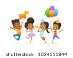 group of african american happy ... | Shutterstock .eps vector #1034511844