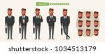 successful  happy businessman... | Shutterstock .eps vector #1034513179