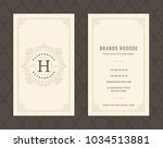 luxury business card and... | Shutterstock .eps vector #1034513881