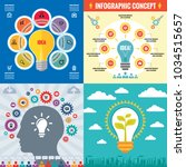 business infographic templates...   Shutterstock .eps vector #1034515657