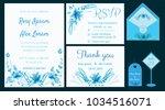 vector set of invitation cards... | Shutterstock .eps vector #1034516071