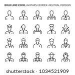 gender neutral avatars  bold... | Shutterstock .eps vector #1034521909