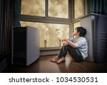 chinese child looking at... | Shutterstock . vector #1034530531