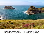 coastline at cornish coast near ...