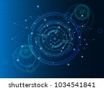 scientific futuristic... | Shutterstock .eps vector #1034541841