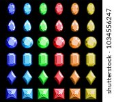 collection of gems and... | Shutterstock .eps vector #1034556247