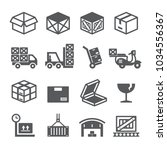 package delivery icon set | Shutterstock .eps vector #1034556367