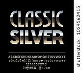 vector elegant classic silver... | Shutterstock .eps vector #1034562415