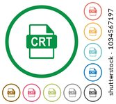 crt file format flat color... | Shutterstock .eps vector #1034567197