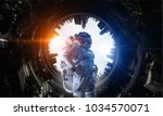 space fantasy image with... | Shutterstock . vector #1034570071