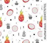 modern vector seamless pattern...   Shutterstock .eps vector #1034570701