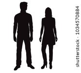 vector silhouettes of man and... | Shutterstock .eps vector #1034570884