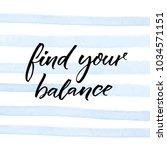 fing your balance.... | Shutterstock .eps vector #1034571151