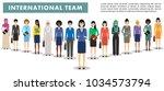 group of business women... | Shutterstock .eps vector #1034573794