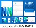 modern corporate identity... | Shutterstock .eps vector #1034574721