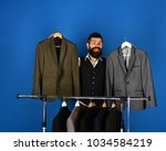 designer makes choice near... | Shutterstock . vector #1034584219