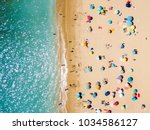 aerial view from flying drone... | Shutterstock . vector #1034586127