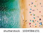 aerial view from flying drone...   Shutterstock . vector #1034586151