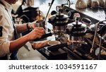 espresso shot from coffee... | Shutterstock . vector #1034591167