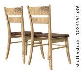 wooden chair with backrest 3d... | Shutterstock . vector #1034591539