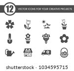 flowers vector icons for your... | Shutterstock .eps vector #1034595715