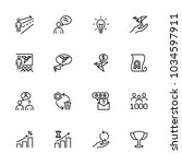 line icon set related to start...