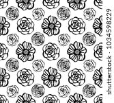 botanical seamless pattern with ... | Shutterstock .eps vector #1034598229
