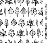 botanical seamless pattern with ... | Shutterstock .eps vector #1034598259