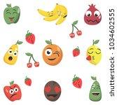cartoon factory symbols. fruity ... | Shutterstock .eps vector #1034602555
