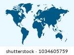 world map vector.   Shutterstock .eps vector #1034605759