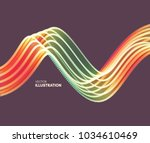 wavy background with motion... | Shutterstock .eps vector #1034610469