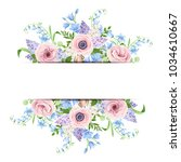 vector banner with pink  blue... | Shutterstock .eps vector #1034610667