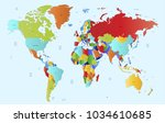 world map vector. | Shutterstock .eps vector #1034610685