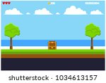 background game of pixel art...