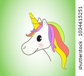 unicorn isolated on background. ... | Shutterstock .eps vector #1034615251