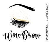 brow studio. vector... | Shutterstock .eps vector #1034615614