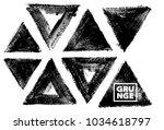 set of black ink vector stains | Shutterstock .eps vector #1034618797