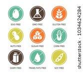 set of food labels   allergens  ... | Shutterstock .eps vector #1034624284