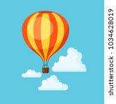 travel illustration. traveling... | Shutterstock .eps vector #1034628019