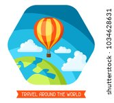 travel illustration. traveling... | Shutterstock .eps vector #1034628631
