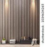 mockup poster in the interior ... | Shutterstock . vector #1034634265