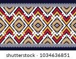 geometric ethnic pattern... | Shutterstock .eps vector #1034636851