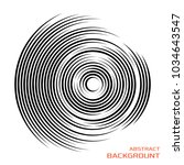 concentric rotating circular... | Shutterstock .eps vector #1034643547